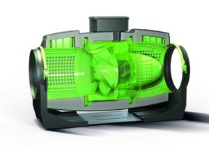 Vortice Lineo Quiet energiezuinige en stille inbouwventilator met EC motor doorsnede